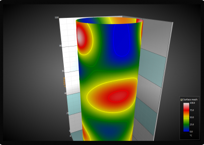 WPF 3D surface chart value based coloring and contouring