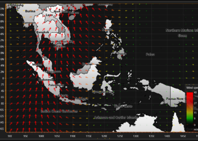 Image of wind data chart example for WPF and WinForms.