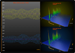 WPF 3D audio monitors chart spectrogram example