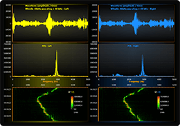 WPF audio monitors chart spectrogram example