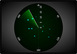 WPF polar chart with scanning radar example