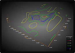 WPF 3D surface chart colored contours example