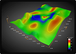 WPF 3D surface chart gradient fill contour example
