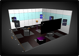 WPF 3D chart surround room chart example